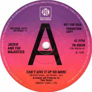Jackie & The Majestics  / Jackie Trent - Can't Give It Up No More download